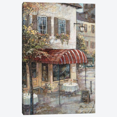 Coffee House Ambiance Canvas Print #RUA242} by Ruane Manning Canvas Art