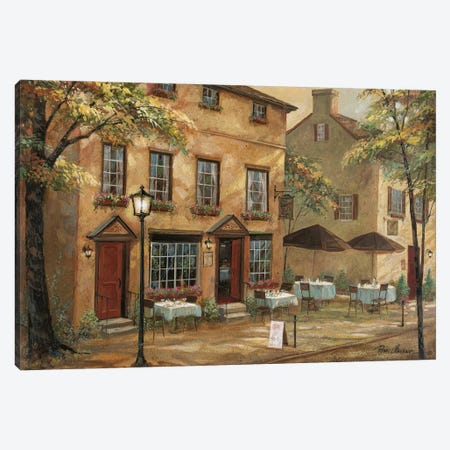 Colleen's Pub Canvas Print #RUA243} by Ruane Manning Canvas Artwork