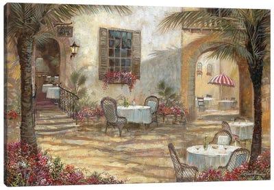 Courtyard Ambiance Canvas Art Print