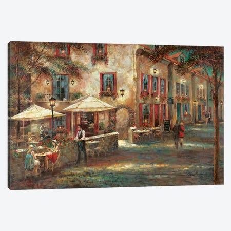 Courtyard Café Canvas Print #RUA245} by Ruane Manning Canvas Art Print