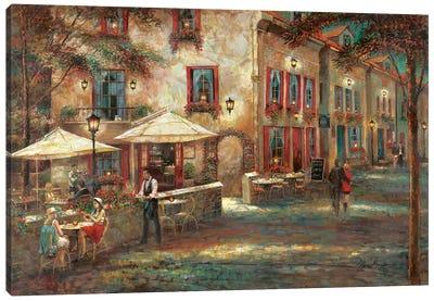 Courtyard Café Canvas Art Print