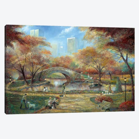 Dog Park Canvas Print #RUA24} by Ruane Manning Canvas Artwork