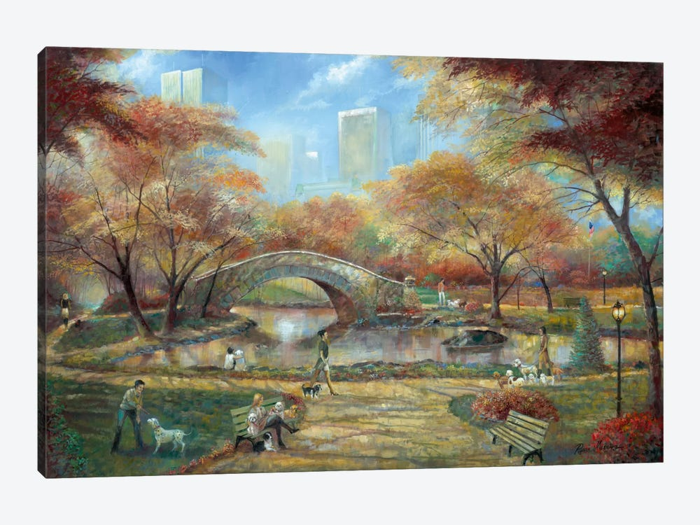 Dog Park by Ruane Manning 1-piece Canvas Art