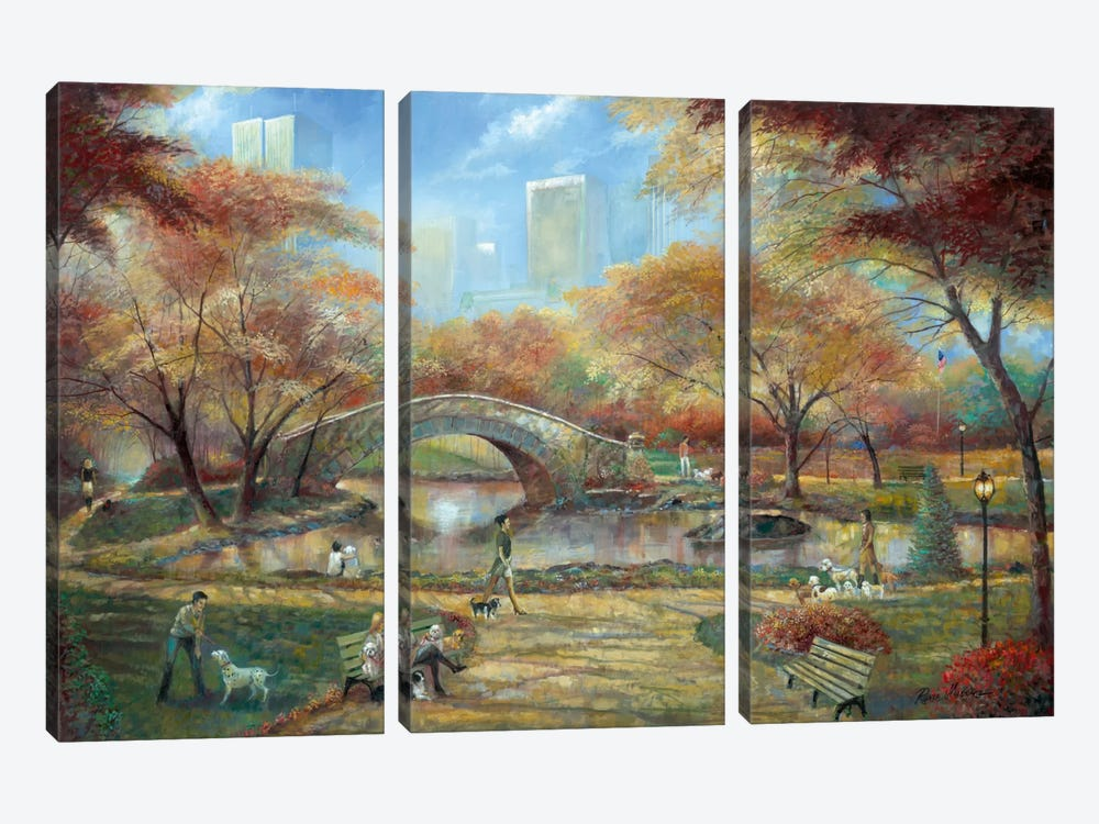 Dog Park 3-piece Canvas Artwork