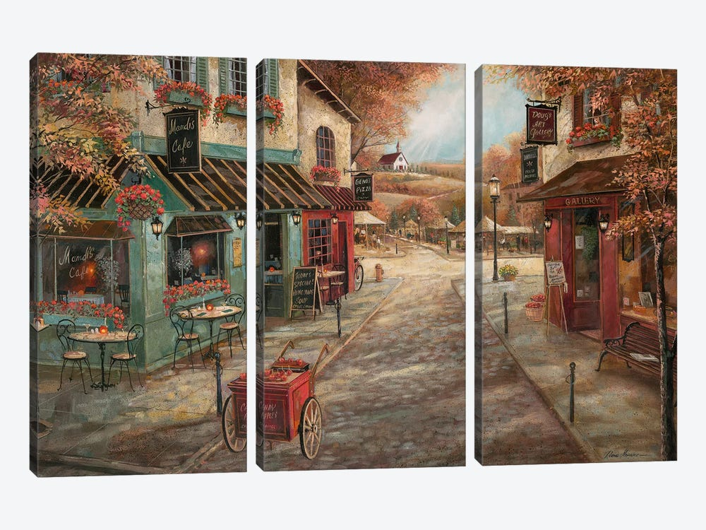 Fall Splendor by Ruane Manning 3-piece Canvas Print