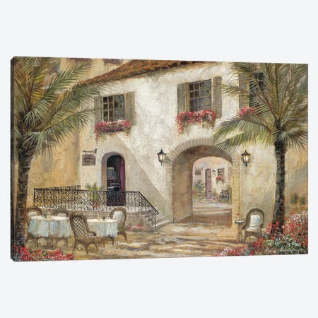 Gentle Palms & Wine Canvas Print #RUA256} by Ruane Manning Canvas Artwork