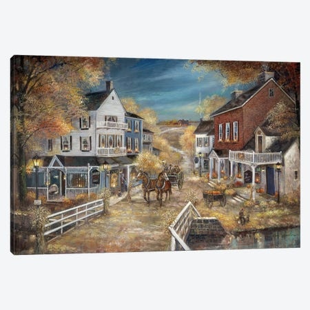 Harvest Village Canvas Print #RUA257} by Ruane Manning Canvas Artwork