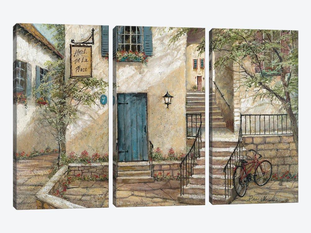 Hotel de La Place by Ruane Manning 3-piece Canvas Artwork