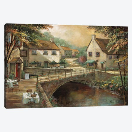 Michaels' Pub & Grill Canvas Print #RUA263} by Ruane Manning Canvas Artwork