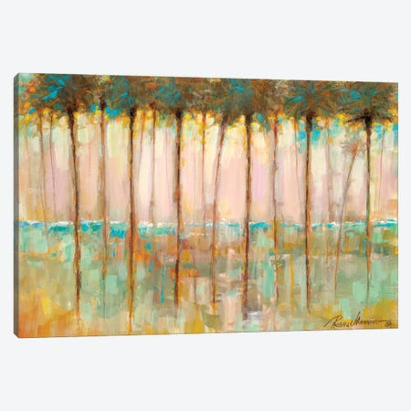 Palms at Dusk Canvas Print #RUA268} by Ruane Manning Canvas Art