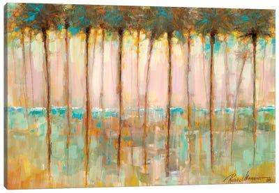 Palms at Dusk Canvas Art Print