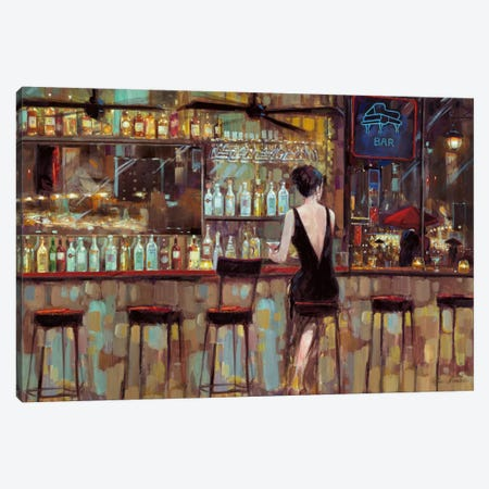 Elegant In Black Canvas Print #RUA26} by Ruane Manning Canvas Artwork