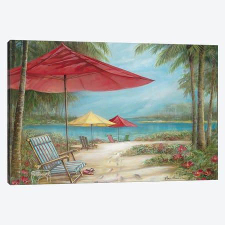Relaxing Paradise I Canvas Print #RUA271} by Ruane Manning Art Print
