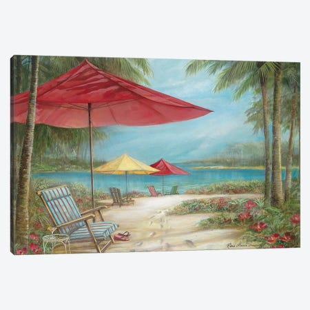 Relaxing Paradise I Canvas Print #RUA271} by Ruane Manning Art Print