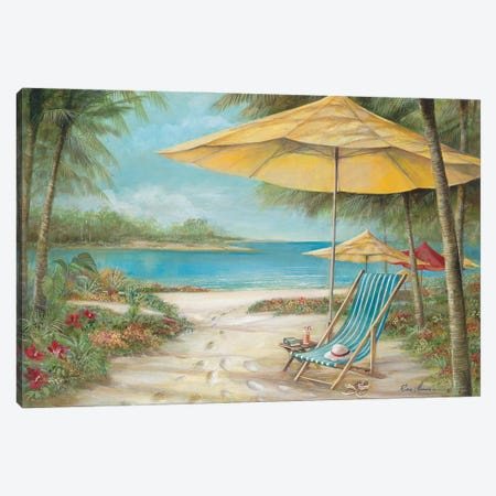 Relaxing Paradise II Canvas Print #RUA272} by Ruane Manning Art Print