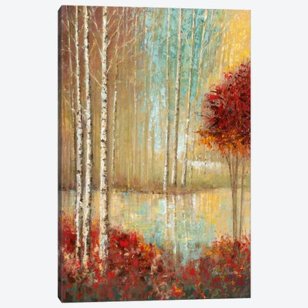 Emerald Pond Canvas Print #RUA27} by Ruane Manning Canvas Artwork