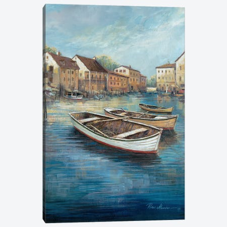 Tranquil Harbor I Canvas Print #RUA290} by Ruane Manning Canvas Art Print