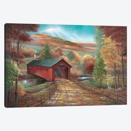 West Arlington Bridge Canvas Print #RUA296} by Ruane Manning Canvas Wall Art