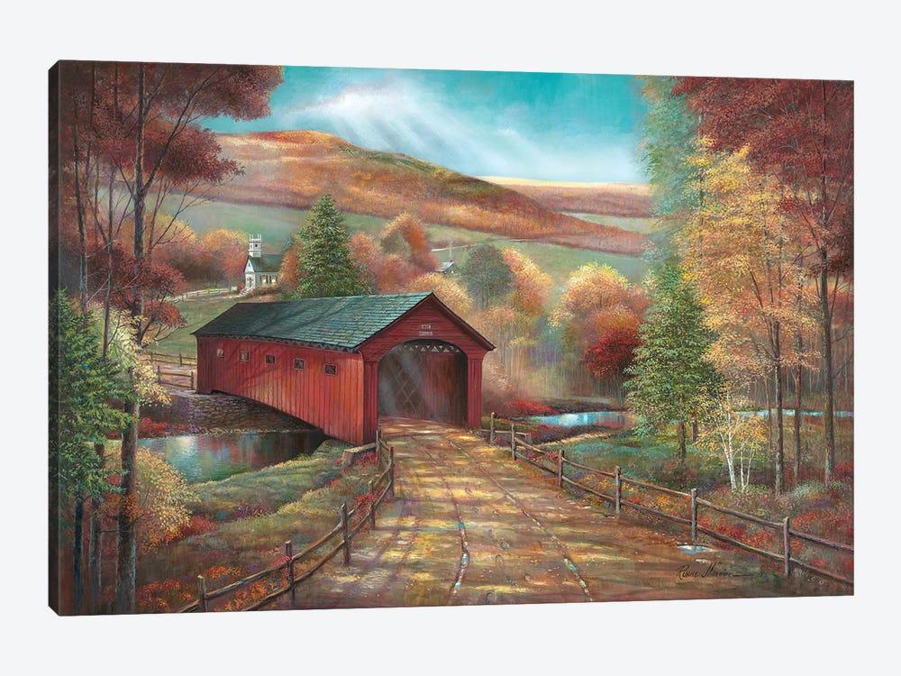 West Arlington Bridge by Ruane Manning 1-piece Canvas Art