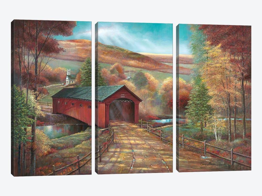 West Arlington Bridge by Ruane Manning 3-piece Canvas Artwork