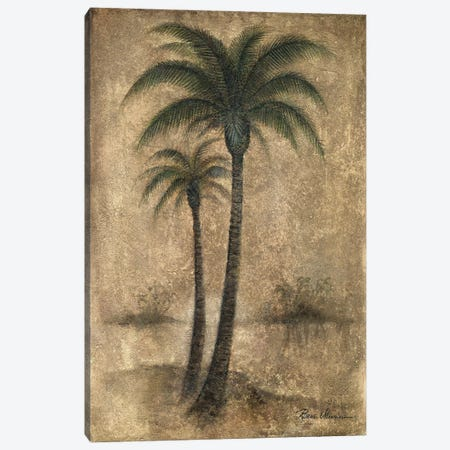 Whispering Palm I Canvas Print #RUA297} by Ruane Manning Canvas Artwork