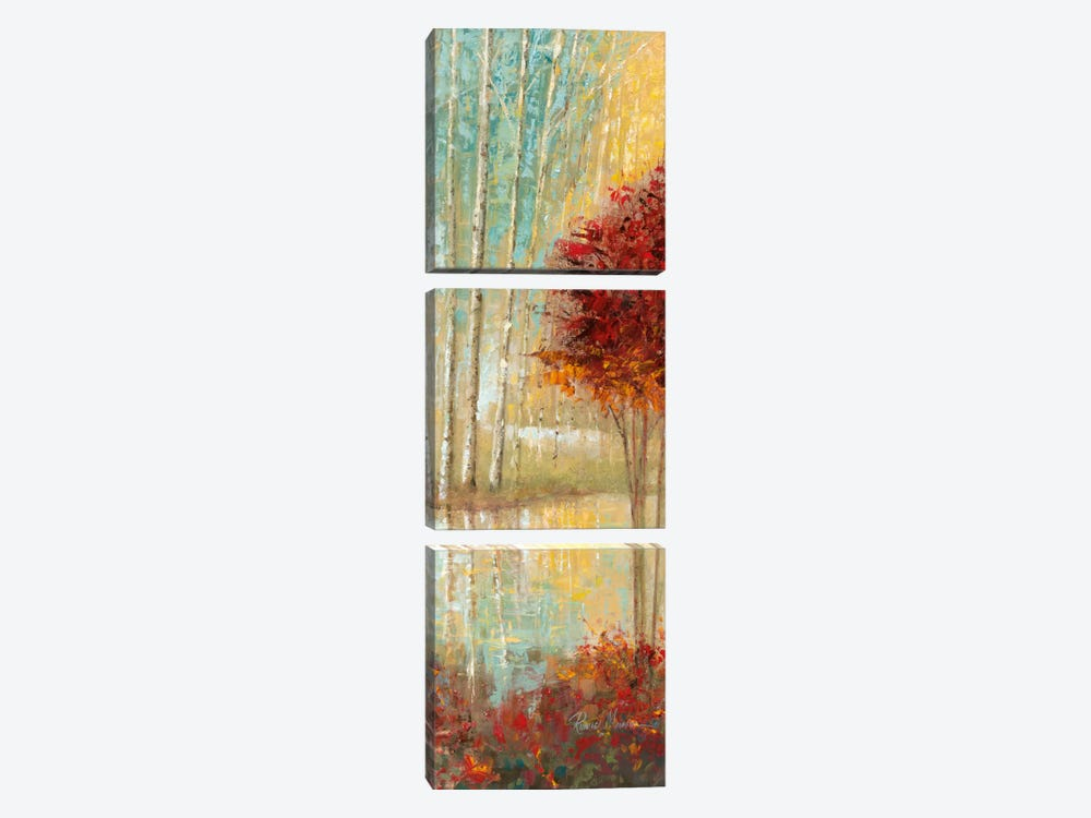 Emerald Pond Revisited Ii by Ruane Manning 3-piece Canvas Art Print