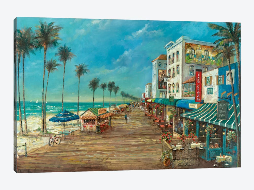 A Day On The Boardwalk by Ruane Manning 1-piece Art Print