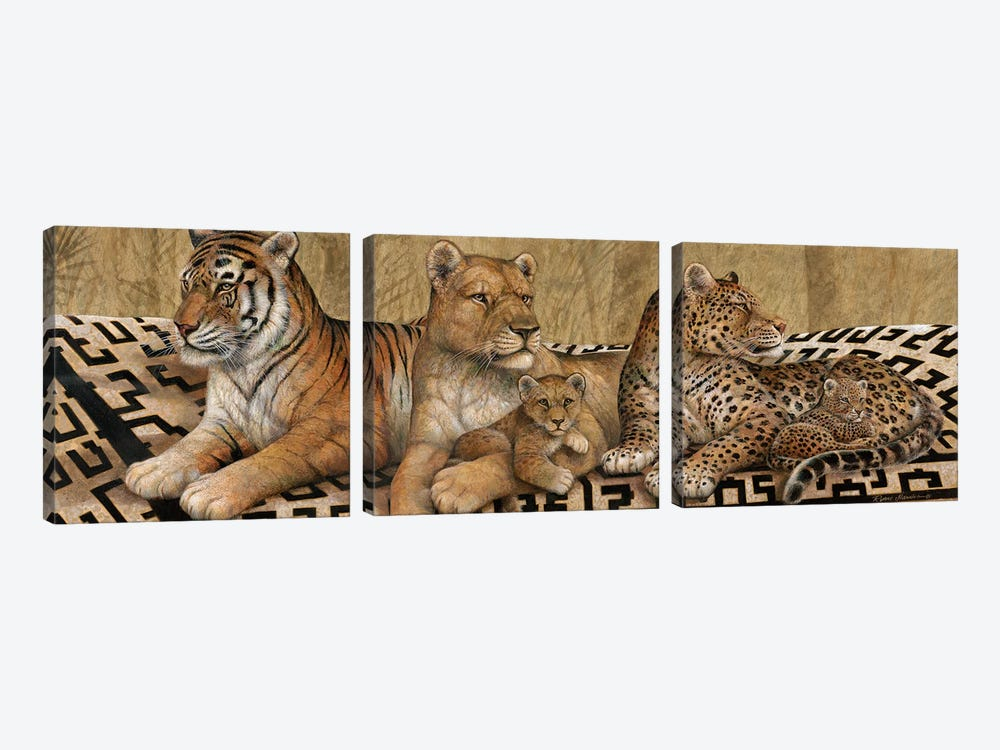 Wildlife Tapestry by Ruane Manning 3-piece Canvas Art Print