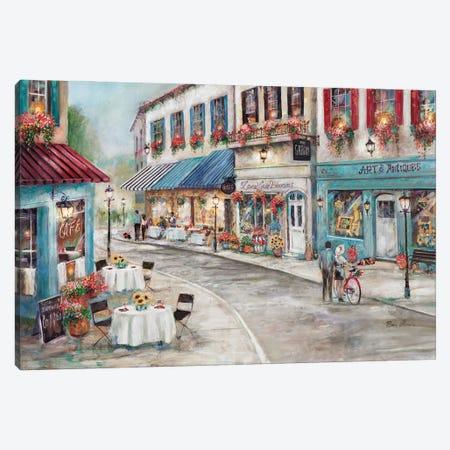 Quaint Café Canvas Print #RUA308} by Ruane Manning Art Print