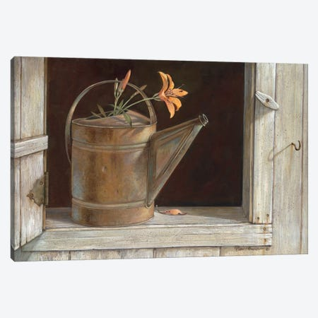 Favorite Watering Can Canvas Print #RUA31} by Ruane Manning Canvas Art