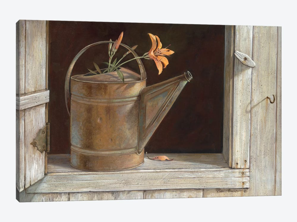 Favorite Watering Can by Ruane Manning 1-piece Canvas Wall Art