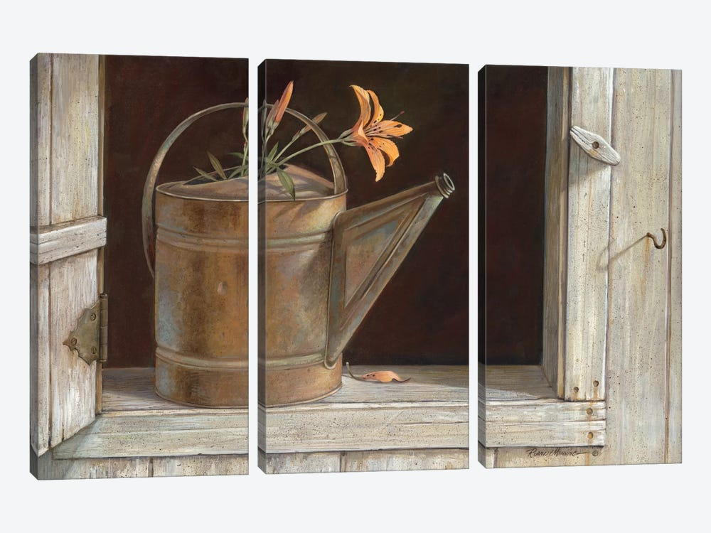 Favorite Watering Can by Ruane Manning 3-piece Canvas Wall Art