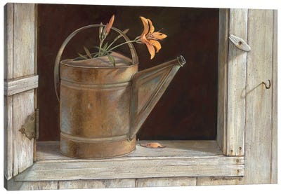 Favorite Watering Can Canvas Art Print