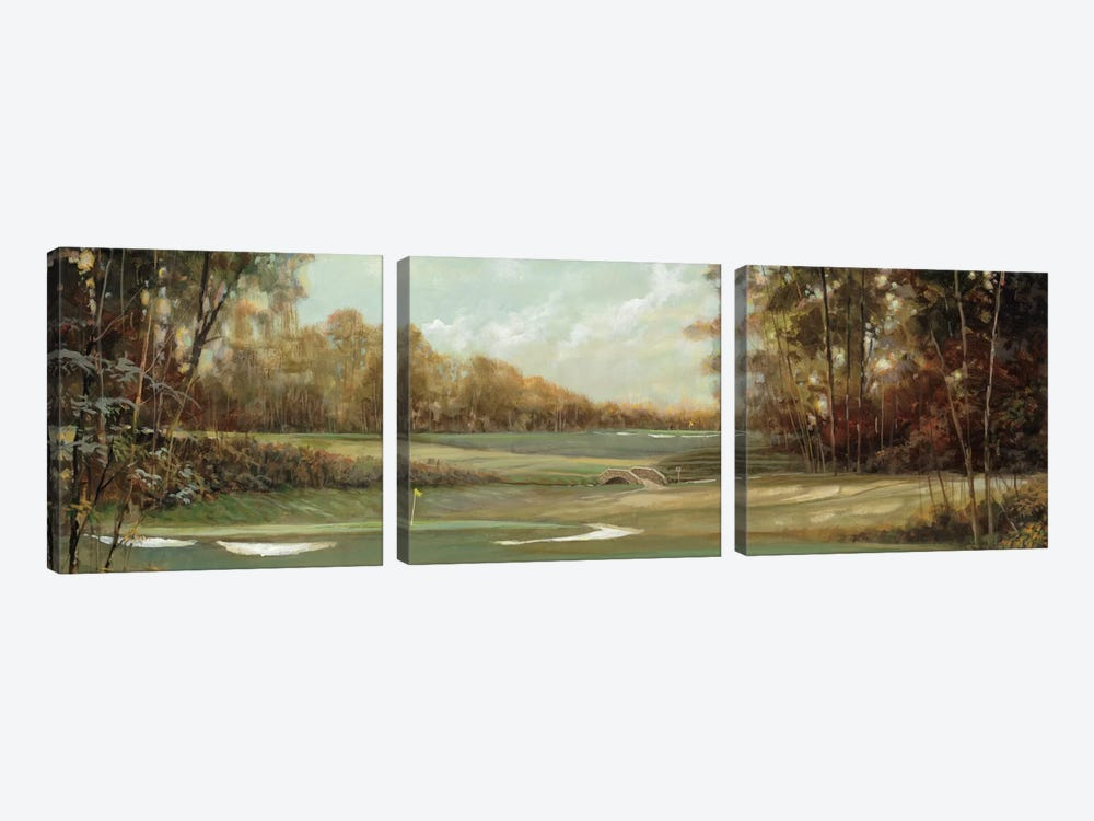 First Hole by Ruane Manning 3-piece Canvas Artwork