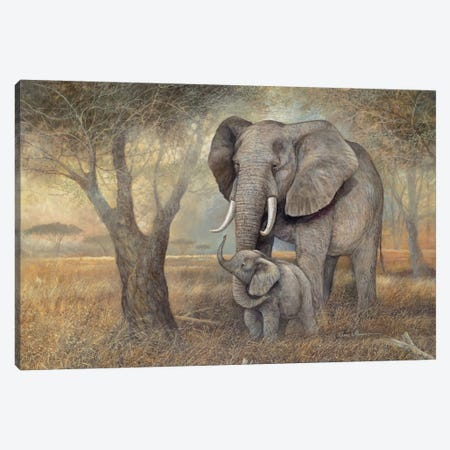 Gentle Touch Canvas Print #RUA36} by Ruane Manning Art Print