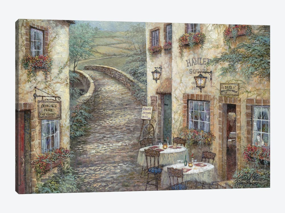 Hamlet Square by Ruane Manning 1-piece Canvas Print