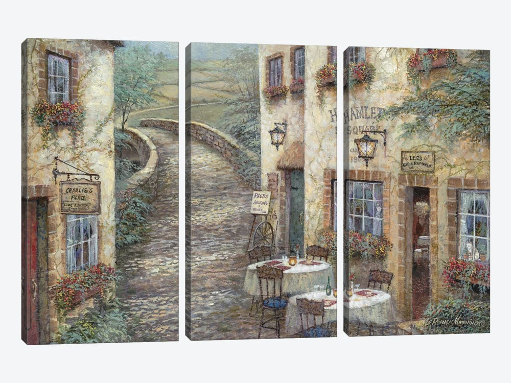Hamlet Square by Ruane Manning 3-piece Canvas Art Print