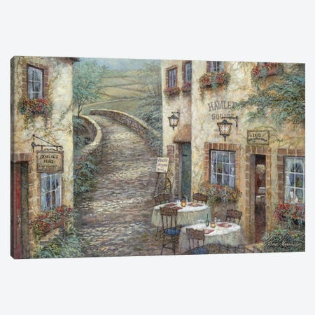 Hamlet Square Canvas Print #RUA38} by Ruane Manning Canvas Art