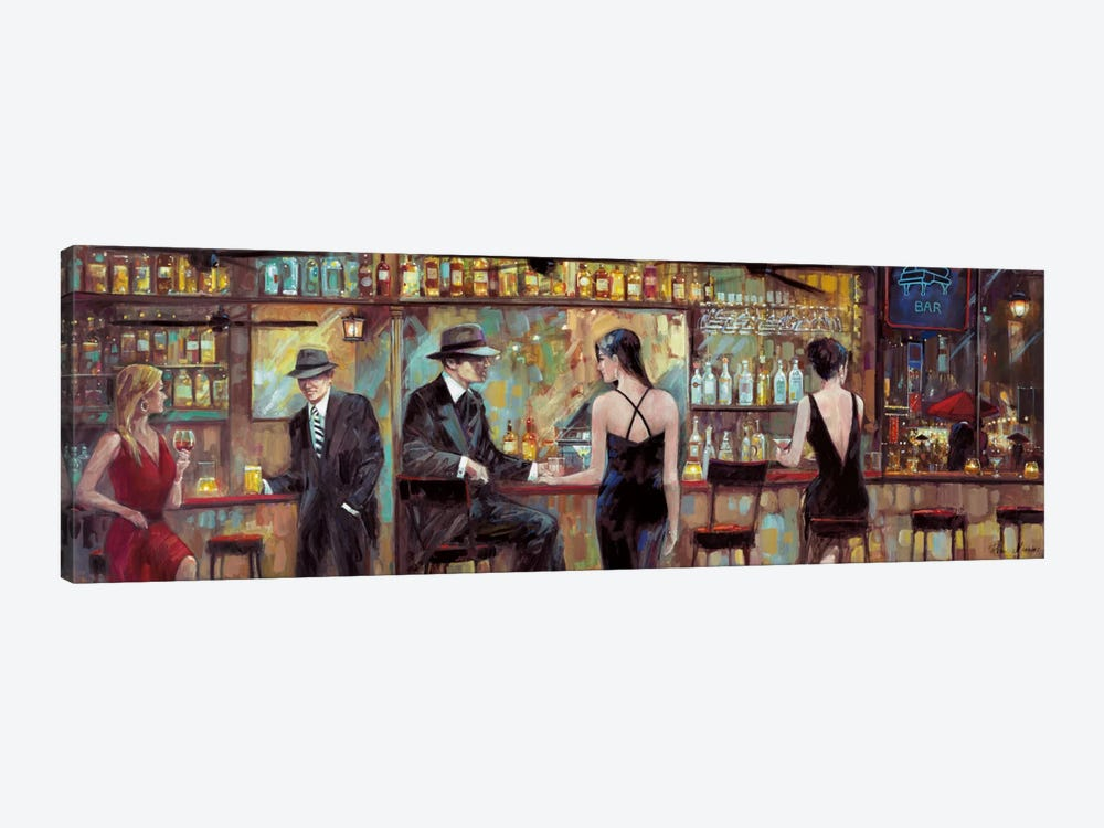 Happy Hour by Ruane Manning 1-piece Canvas Artwork
