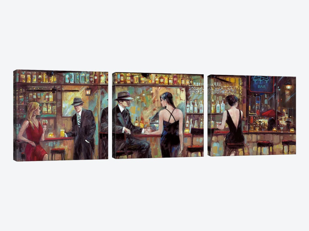 Happy Hour by Ruane Manning 3-piece Canvas Art