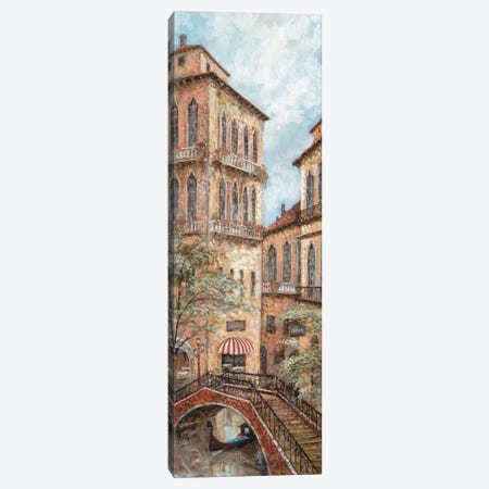 Holiday In Venice I Canvas Print #RUA40} by Ruane Manning Canvas Art Print