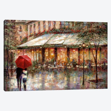 Les Deux Amants Canvas Print #RUA46} by Ruane Manning Canvas Artwork