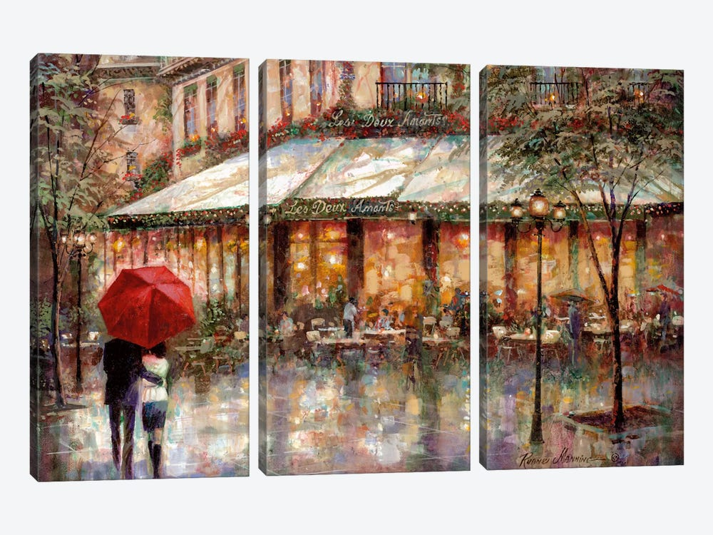 Les Deux Amants by Ruane Manning 3-piece Canvas Wall Art