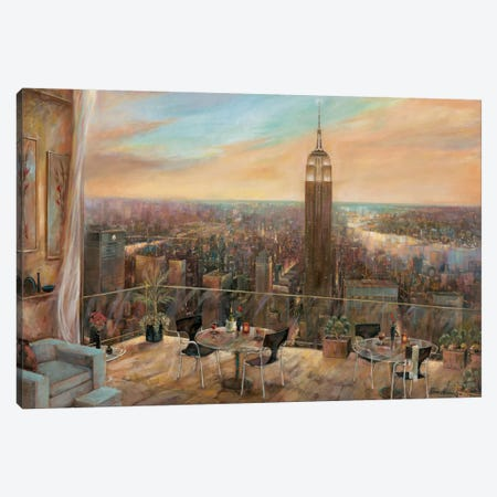 A New York View Canvas Print #RUA4} by Ruane Manning Canvas Artwork