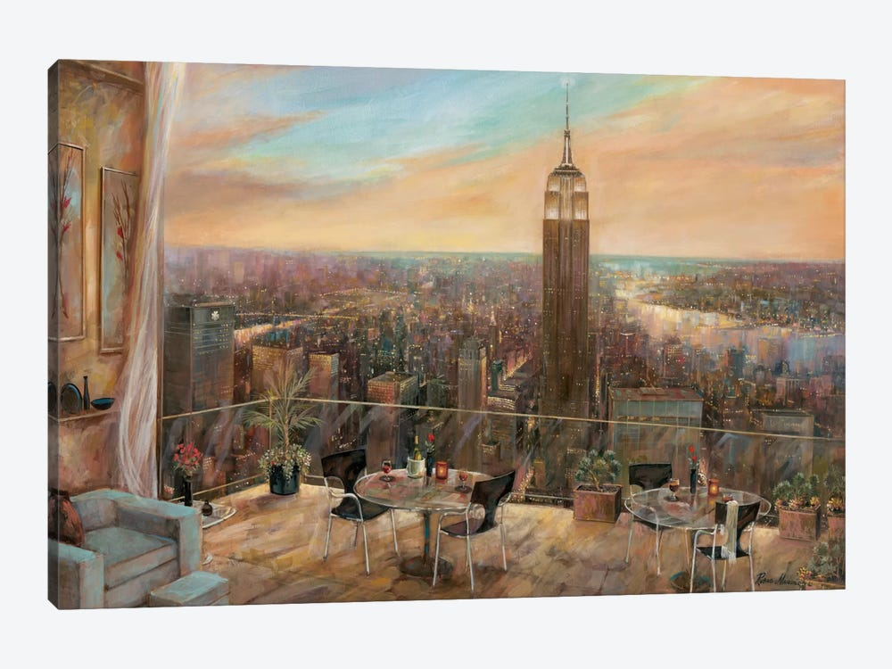 A New York View by Ruane Manning 1-piece Canvas Print