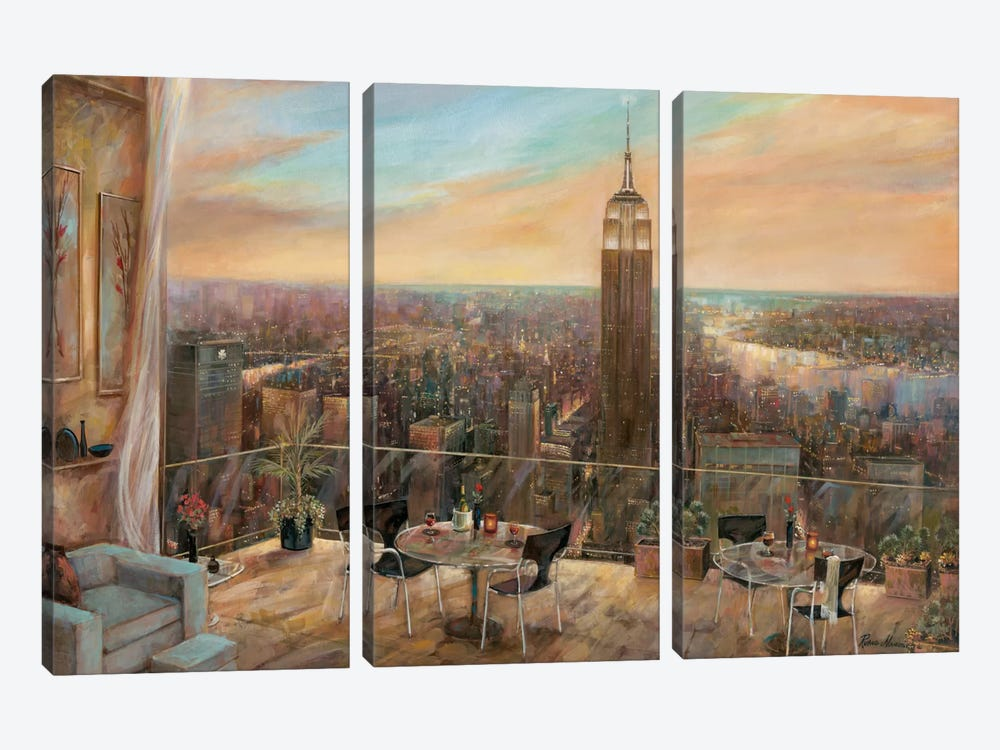 A New York View by Ruane Manning 3-piece Canvas Print