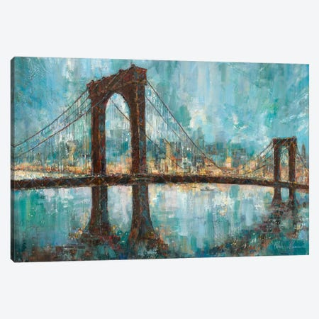 Manhattan Memories Canvas Print #RUA50} by Ruane Manning Canvas Artwork