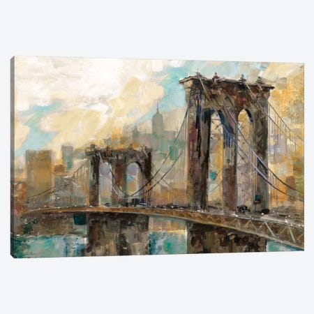 Manhattan Memories Canvas Print #RUA51} by Ruane Manning Canvas Wall Art