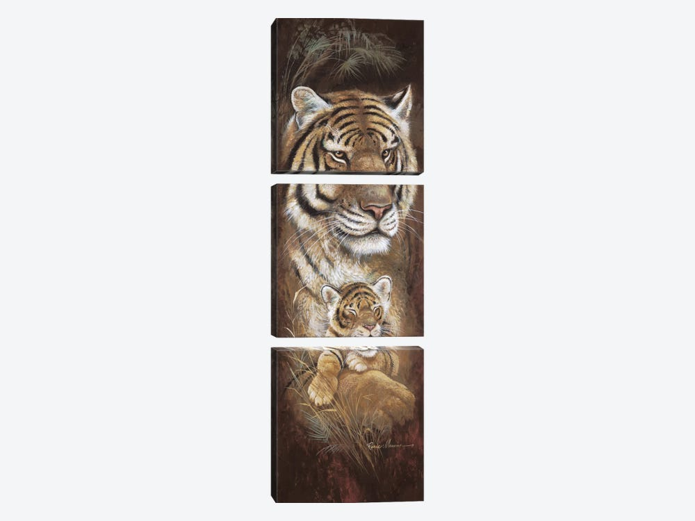 Maternal Instinct by Ruane Manning 3-piece Canvas Wall Art