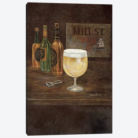 Mill Street Pub 3-Piece Canvas #RUA55} by Ruane Manning Canvas Art Print